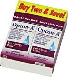 Opcon-A Eye Drops for Eye Allergy Relief, 2-Count Packages of 0.5-Ounce Bottles, Health Care Stuffs