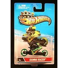 GAMMA RACER (Green & Black) * MOTORCYCLE & RIDER * Hot Wheels 1:64 Scale 2012 Die-Cast Vehicle