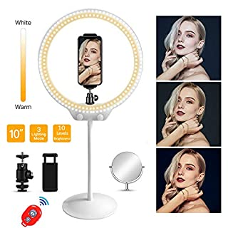 "MOUNTDOG 16"" Ring Light Kit Led Wireless Remote with Adjustable Light Stand Phone Holder Carrying Bag for Streaming, Makeup, Selfie Photography"