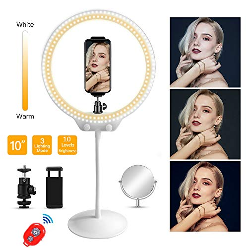 Mirror%EF%BC%86Phone Holder%EF%BC%86Soft Streaming Photography Brightness product image