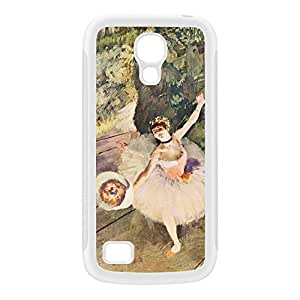Ballerian Girl 5 by Edgar Degas White Silicon Rubber Case for Galaxy S4 Mini by Painting Masterpieces + FREE Crystal Clear Screen Protector