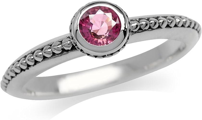 Natural Pink Tourmaline /& Peridot 925 Sterling Silver Twin Heart Ring