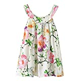 3-6Y Little Kids Girl Flora Print Vest Toddler Princess Sleeveless Shirt Tops Summer Spring Blouse Outfit Clothes