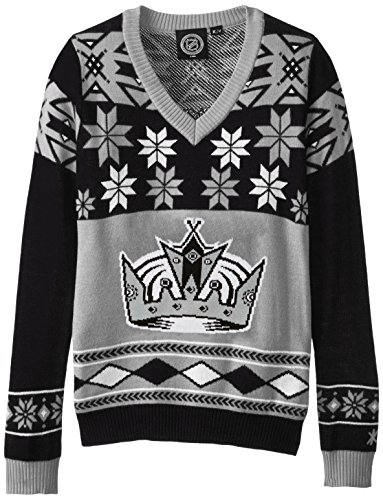 LOS ANGELES KINGS WOMENS BIG LOGO V-NECK SWEATER EXTRA - Sun Logo King