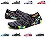 XPKWS Water Shoes for Women Men Quick-Dry Swim Shoes Outdoor Mens Womens Surf Boating Sports (Black01, 11.5 D(M) US Men)