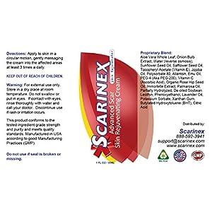 Scarinex: Advanced Scar Removal Cream & Gel (4 bottles: 3 scar gel + 1 skin rejuvenator)