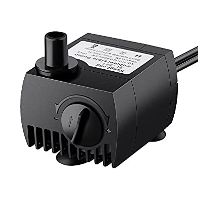 Habor 80GPH Submersible Pump Water Pump for Fish Tank, Fountains, Ponds, Aquarium