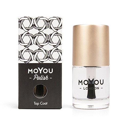 MoYou London Smudge Resistant Dry Fast Top Coat Clear High Gloss Professional Nail Polish - 15ml