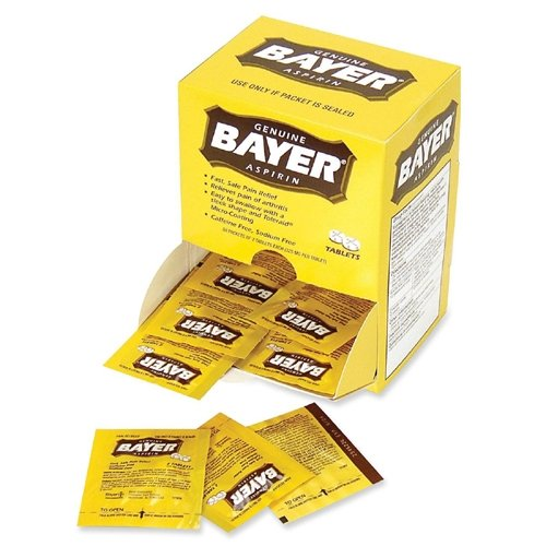 Acme United 12408 Bayer Aspirin Packets 2 Tablets Per Pack 50/BX by Acme United Corporation
