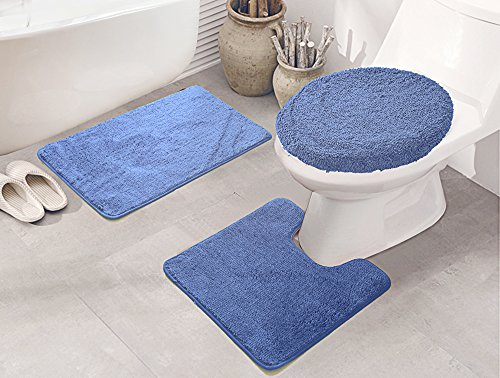 RT Designers Collection Royalty 3-Piece Bath Rug Set, Blue ()