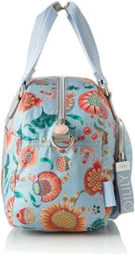 Oilily Charm Sunflower Handbag Mhz - Borsa Donna, Blu (Light Blue), 17x25x33 cm (B x H T)