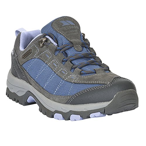 Womens/Ladies Scree Lace up Technical Walking Shoes (9 US) (Steel) by Trespass