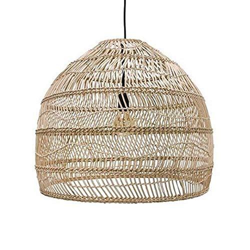 WNSS9 DIY hanglamp, Japanse stijl Creative Handwoven Bamboo rotan rieten Lantern Kroonluchters Retro Industrial…