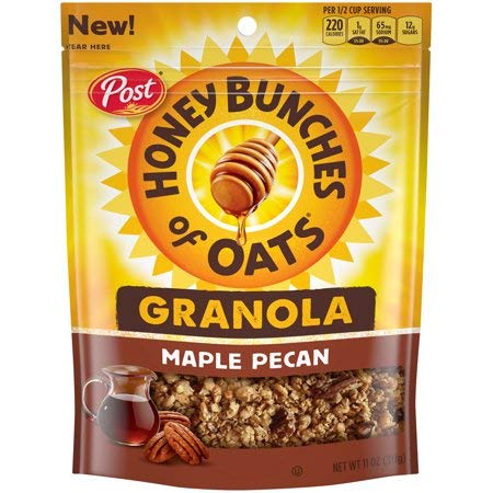 Post Honey Bunches of Oats Granola, Maple Pecan, 11 Oz (Contains 100% Whole Grain)