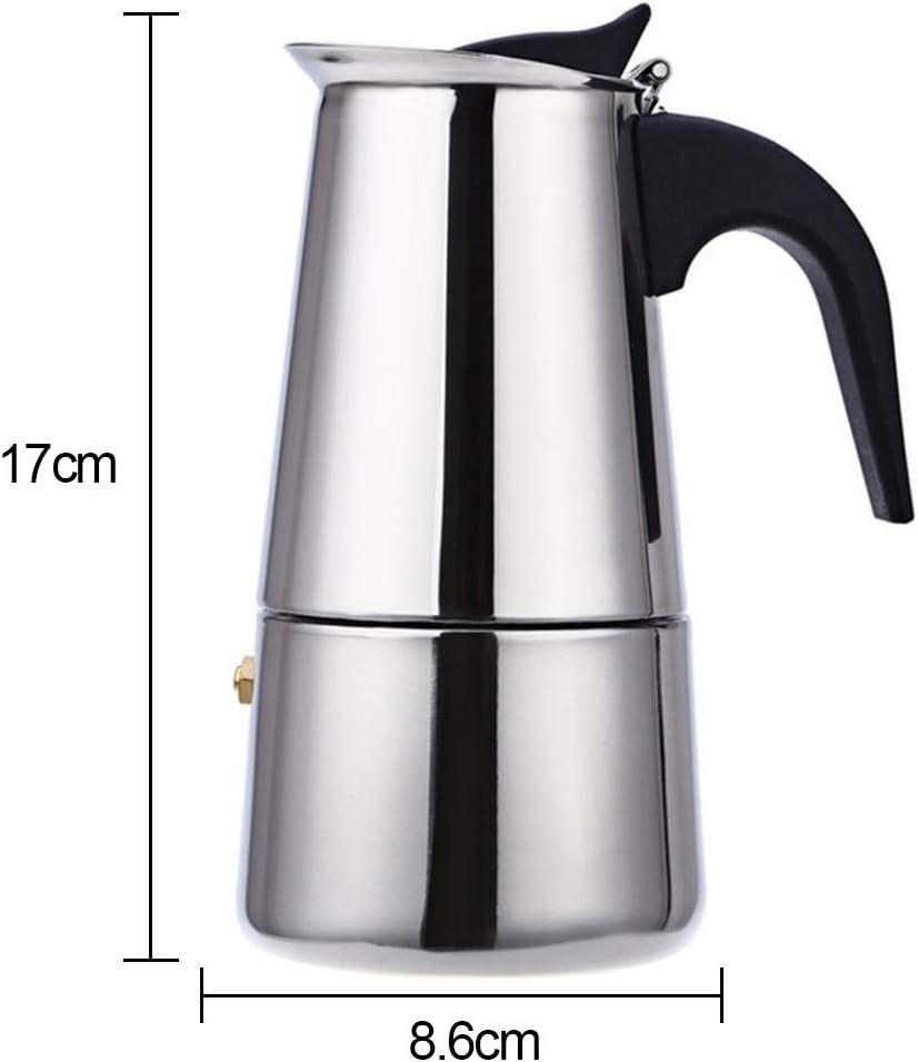 Cafetera de acero inoxidable Pot Mocha Espresso Latte Stovetop filtro Moka Coffee Pot para cocina