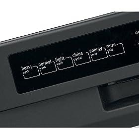Dishwasher digital control panel