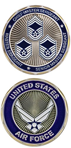(U.S. Air Force Top 3 Ranks Challenge Coin)
