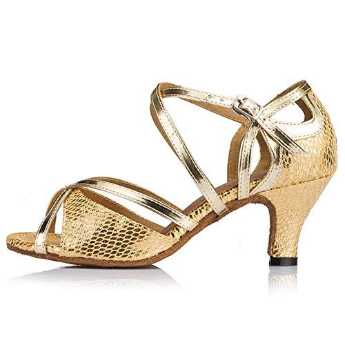 Chaussures Pratique Boucle Leather Elobaby Jazz Danse Fj Modern Red De Samba Latin Ballroom Femmes 12 dance aYqY05