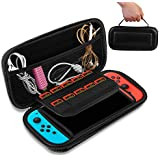 Carry Case Compatible With Nintendo Switch, Moclever Black Protective Hard Portable Travel Carry Case Shell Pouch for Nintendo Switch Console & Accessories