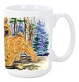 Caroline's Treasures SS8011CM15 Norwich Terrier Microwavable Ceramic Coffee Mug, 15 oz, Multicolor