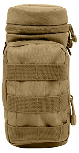 (Rothco MOLLE Compatible Water Bottle Pouch, Coyote Brown)
