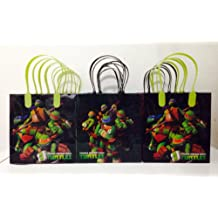 Ninja Turtles Party Favor Goodie Small Gift Bags 12
