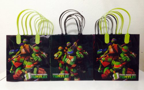 Ninja Turtles Party Favor Goodie Small Gift Bags 12 -