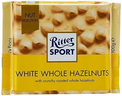Ritter Sport White Chocolate Hazelnut Bar-Pack of 3