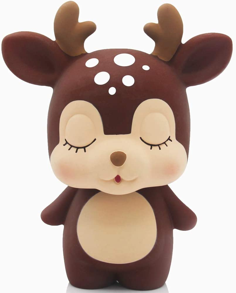 DEER head wood piggy bank Montessori toy Elk moose home decor Christmas gift for boy girl kids Adult money box Unique baby gift Tip coin jar
