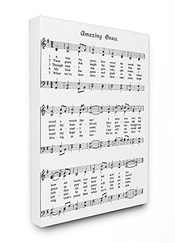 Stupell Industries Amazing Grace Vintage Sheet Music Stretched Canvas Wall Art, Proudly Made in ()