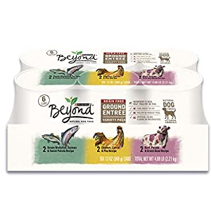 Purina Beyond Grain Free Natural, Ground Entree Variety Pack Canned Dog Food, 13 Oz (2 packs of 6)