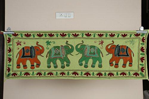 Indian Suzani Wall Hanging Hippie Mandala Tapestry Elephant Dorm Ethnic Decor Table Runner Poster 20 x 60
