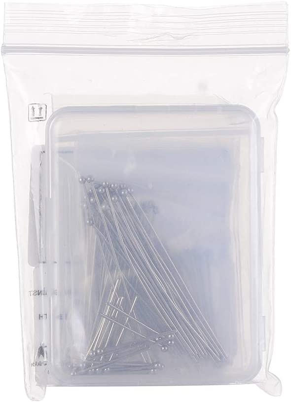 Packed with Box Airssory 100 Pcs 304 Stainless Steel Flat Head Pins Headpins 21-Gauge for Jewelry Necklace Making 20//30//35//40//50mm