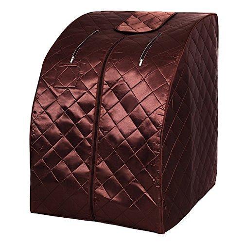 CHOOSEandBUY Portable Far Infrared Sauna with Chair - Coffee (Sunlight Sauna')