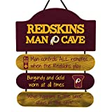 FOCO NFL Washington Redskins Team Logo Mancave Man Cave Hanging Wall Sign, Team Color, One Size