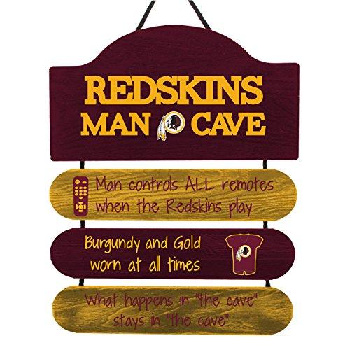 FOCO NFL Washington Redskins Team Logo Mancave Man Cave Hanging Wall Sign, Team Color, One Size -