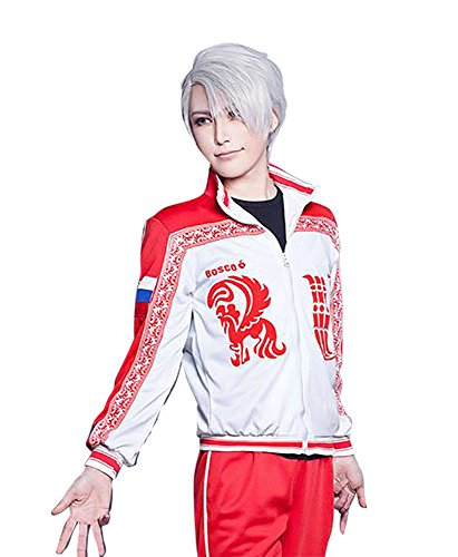 [TOKYO-T Yuri on Ice Victor Nikiforov Costume Jacket Cosplay Halloween (US4-6)] (Figure Skating Halloween Costumes)