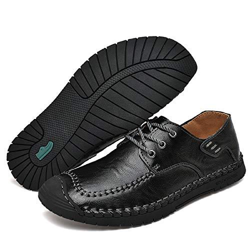 Punta Aonegold Negro Para Pisos Cordones Negocios Antideslizantes Trabajo Ligeros Conducción Redonda Hombre Zapatos De Mocasines H6w6rTqY