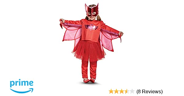 Amazon.com: Owlette Prestige Tutu Pj Masks Costume, Red, Medium (3T-4T): Toys & Games