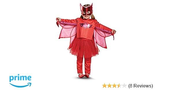 Amazon.com: Owlette Prestige Tutu Pj Masks Costume, Red, Medium (3T-4T): Toys & Games