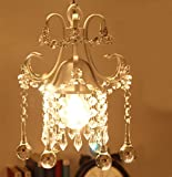 LuFun Mini Crystal Chandelier,Pendant Light,Ceiling Light Fixtures for Living Room Bedroom Restaurant Porch Entryway (1-Light,Champagne) Review