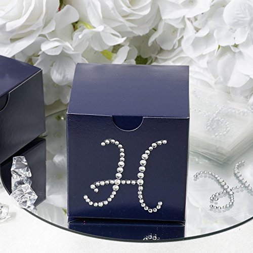 (Efavormart Whats My Name? Letter H for Custom Wedding Event Centerpiece Decoration Clear Letter Rhinestones - 12/pk)