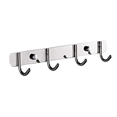 Amazon.com: Perchero de pared de acero inoxidable resistente ...