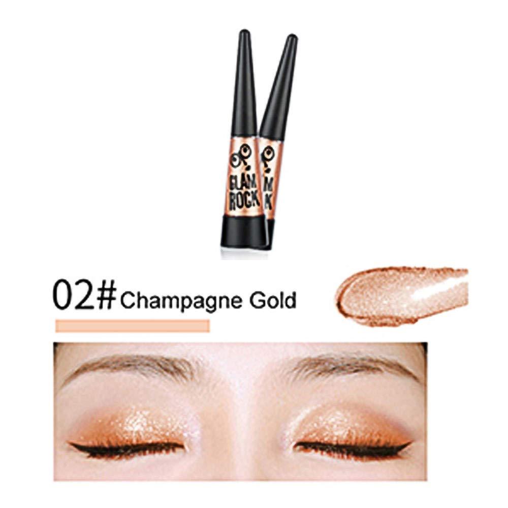 Amazon.com : Clearance Shimmer Chrome Liquid Eyeshadow Long Lasting for Girls, Iuhan Womens Eyeshadow Liquid Waterproof Glitter Eyeliner Shimmer Makeup ...