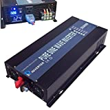 Reliable Off Grid 3500W Pure Sine Wave Inverter 12VDC to 120VAC Solar Power Inverter LED Display (Black)