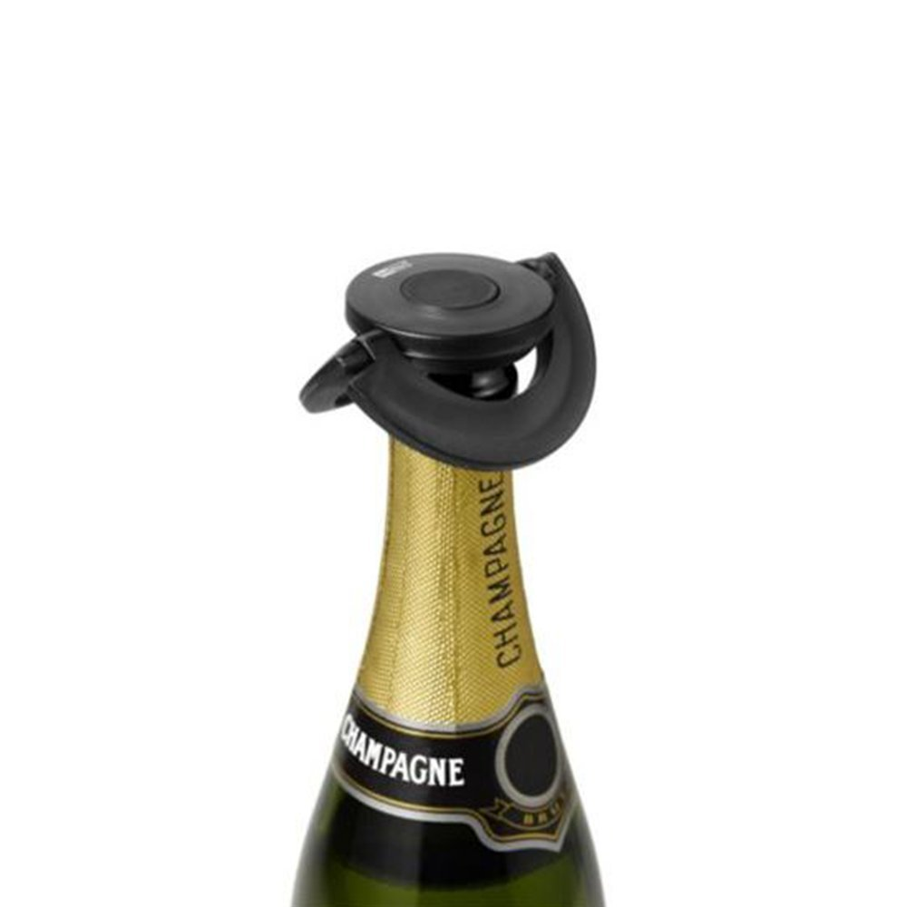 H. Nr. /Stopper for Champagne or Champagne Taste Mat Sint.//Silicone Black /ø 8/2/cm AdHoc FV31/