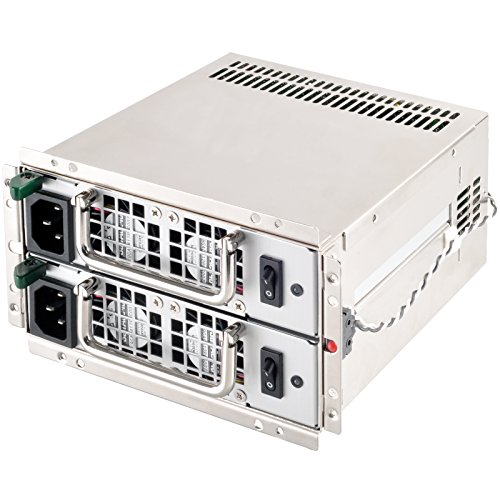 SilverStone Technology Gemini 600+600W PS2 Mini Redundant Power Supply 80 Plus Gold PS-GM600-G