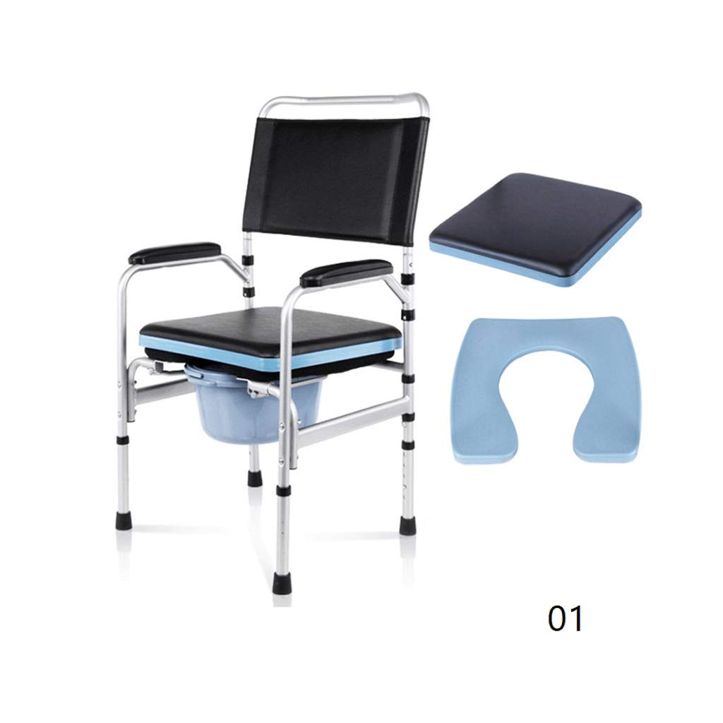 YJDTUJ Toilet Chair Mobile Commode Chair Commode Elderly Pregnant Women Toilet Chair Toilet Elderly Patient Care Breathable Cushion Hips Slow Tail Bone Pain (Color : 1)