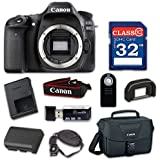 Canon EOS 80D Digital SLR Camera Body Only (Black) - WiFi Enabled with 32GB Class 10 Memory Card, Wireless Remote & 100ES Shoulder Bag