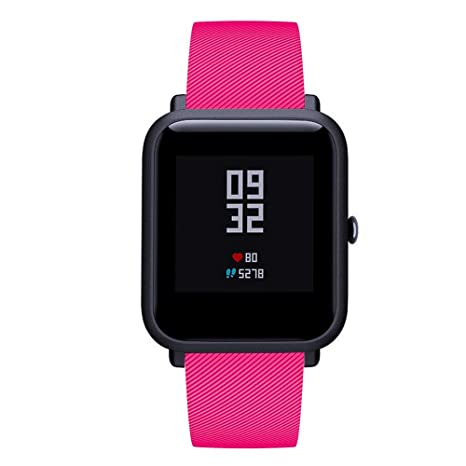 Amazon.com: Band for Amazfit Bip,Soft Silicon Accessory ...